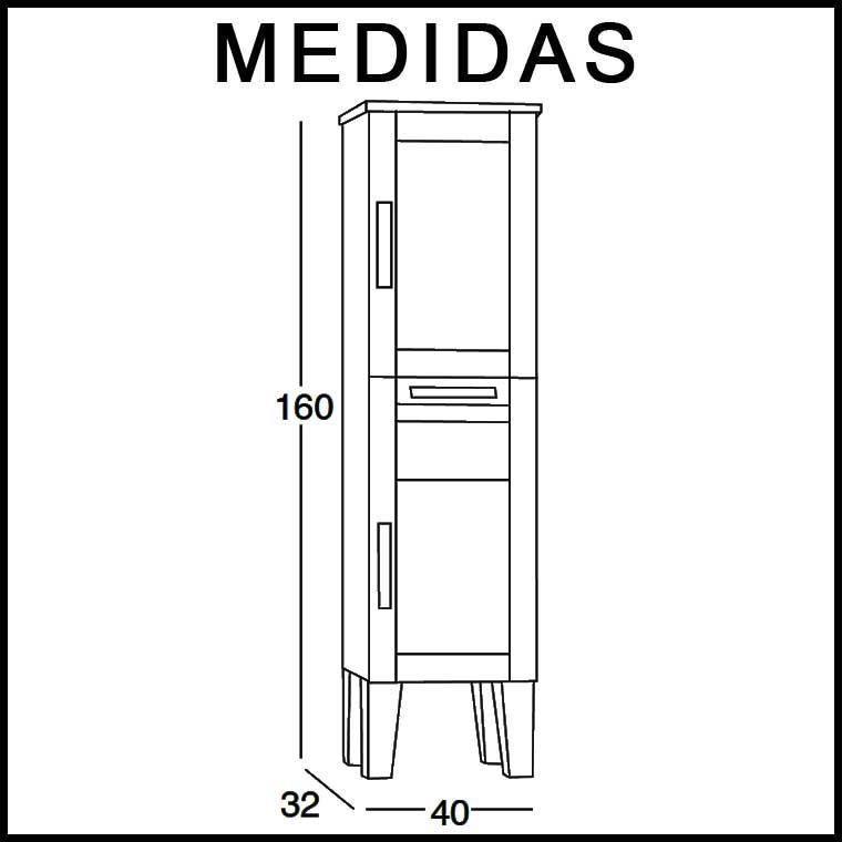 Mueble auxiliar ba o de pie anabel armario de la serie de Armarios de bano de pie