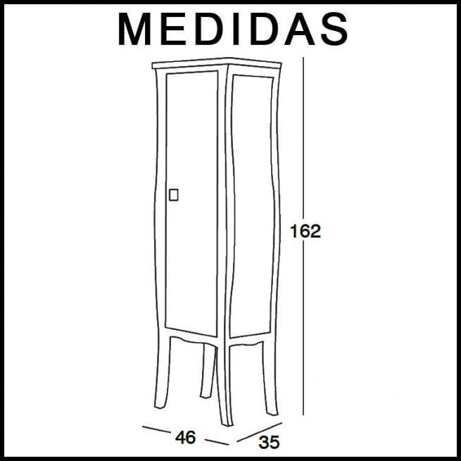 Medidas Mueble Auxiliar Baño de Pie Araceli
