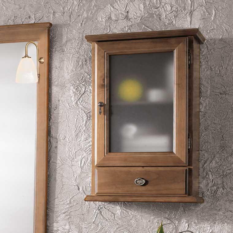 Mueble auxiliar ba o de colgar cl sic 70 cm de la serie for Mueble auxiliar bano
