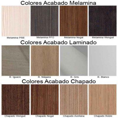 Colores Melamina, Laminado y Chapado, de Muebles de Baño