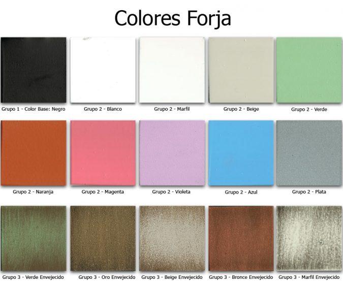 Colores de Forja de Muebles de Baño