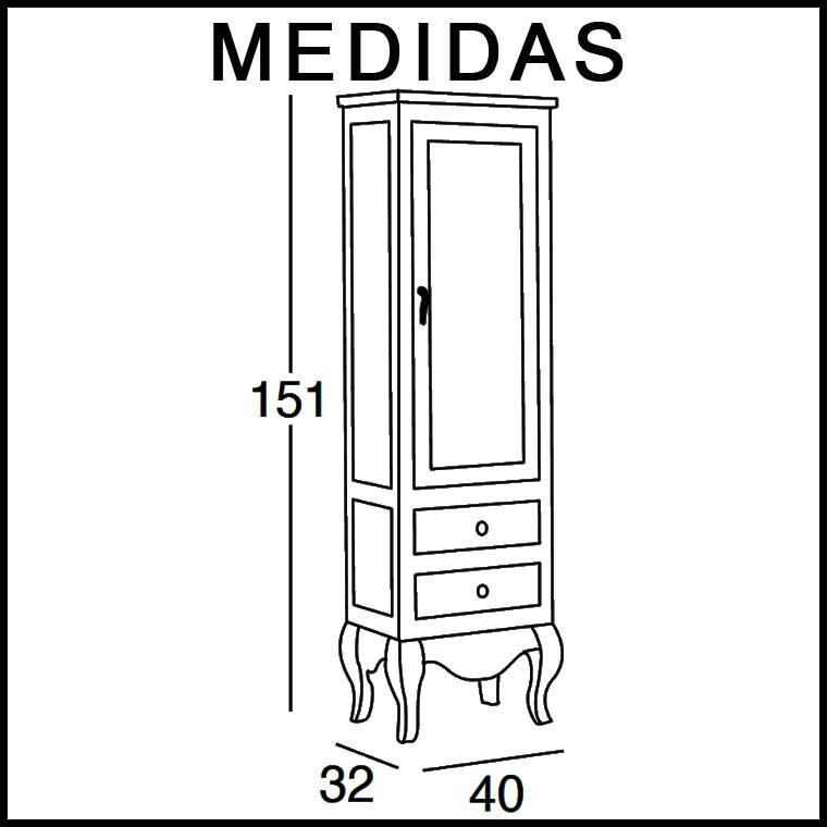 Mueble auxiliar ba o de pie coral armario de la serie de for Mueble auxiliar alto