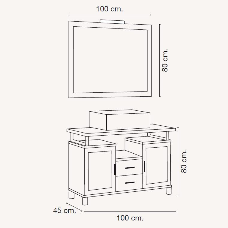mueble de ba o alba de 100 x 45 cm muebles de ba o alba