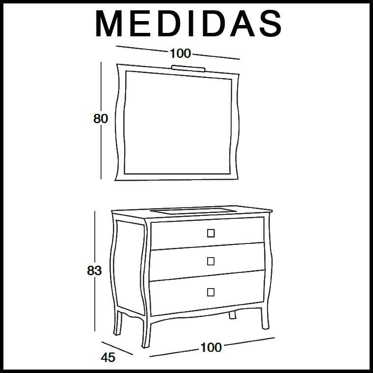 Medidas muebles de bano ideas de disenos for Medidas muebles