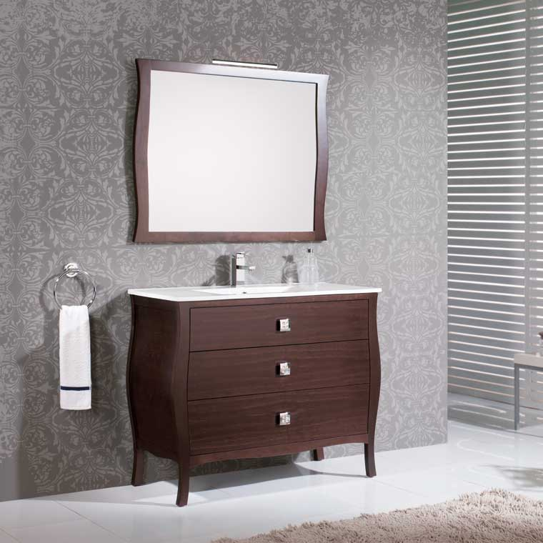 Mueble de ba o araceli 100 cm mueble de la serie de ba o for Mueble bano 75 cm