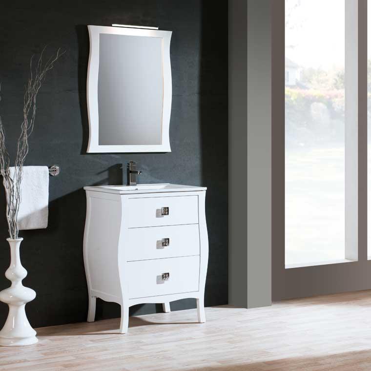 Mueble de ba o araceli 60 cm mueble de la serie de ba o for Mueble bano 75 cm