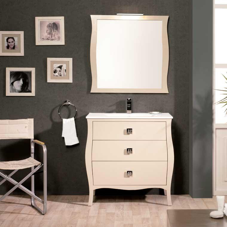 Mueble de ba o araceli 80 cm mueble de la serie de ba o for Mueble bano 75 cm