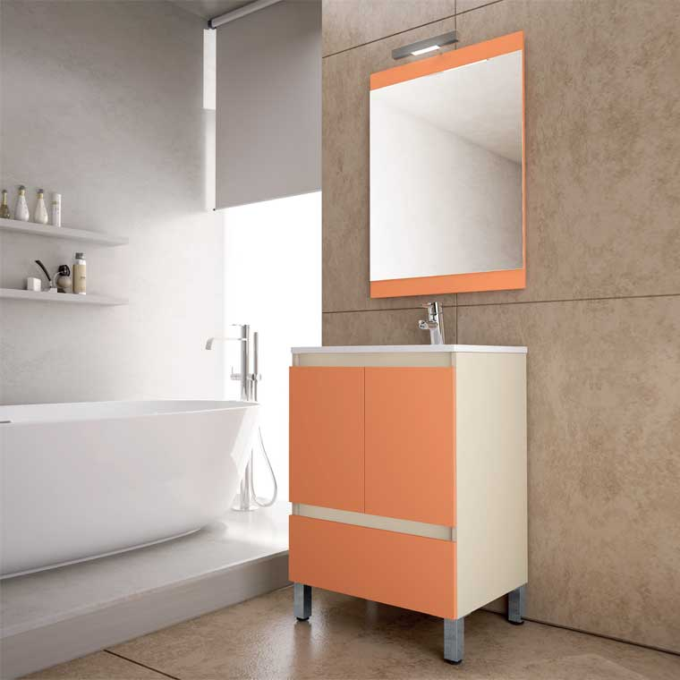 Mueble de ba o aras 60 cm mueble de la serie de ba o aras for Muebles de bano de 60 cm