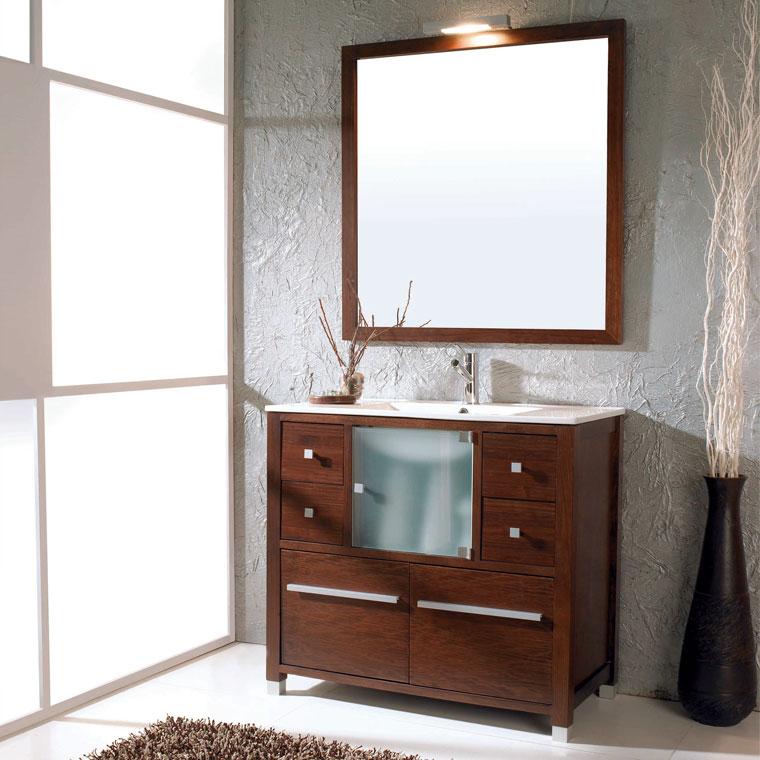 Mueble de ba o ares 90 x 45 cm mueble de la serie de ba o for Mueble 45 cm ancho