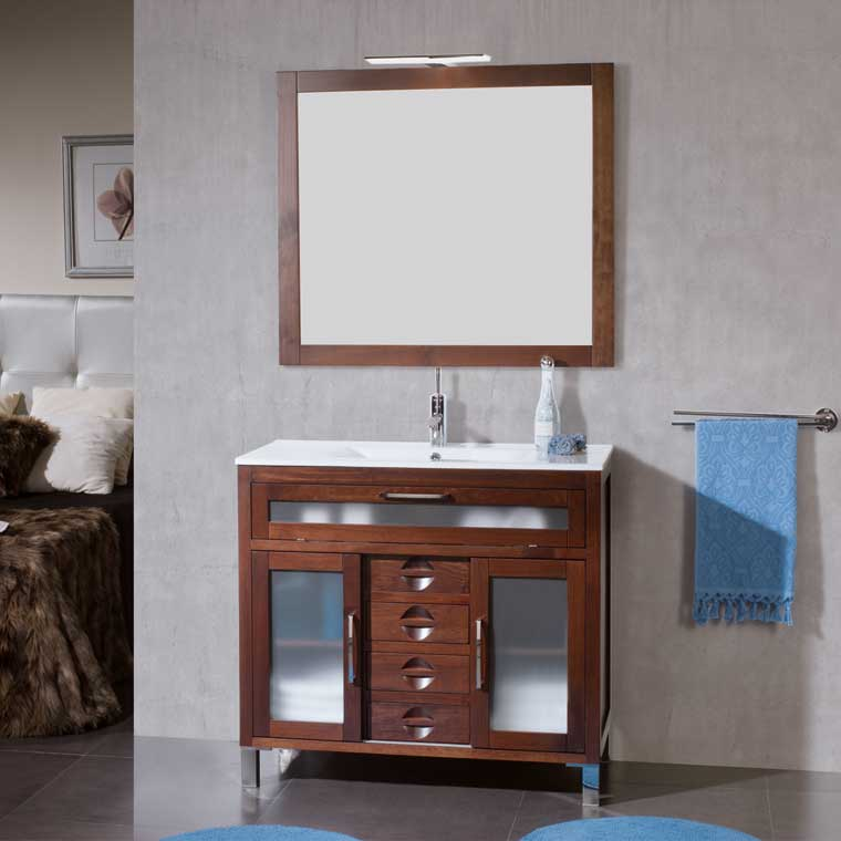 Muebles de madera para el baño