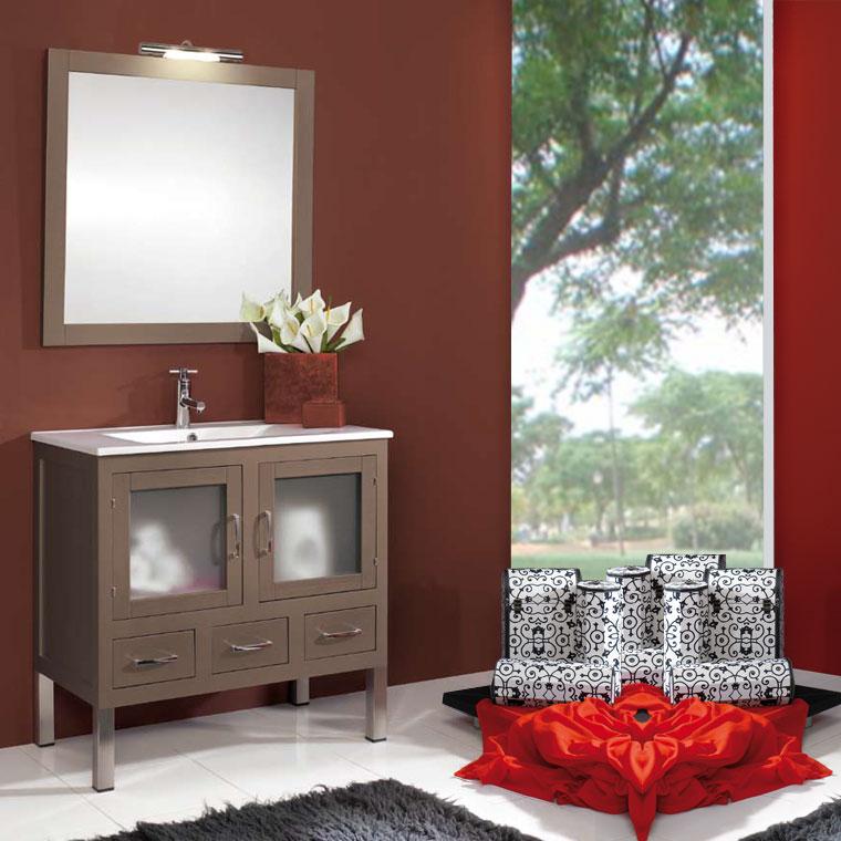 Mueble de ba o clara de 80 x 45 cm muebles de ba o clara for Mueble bano madera clara