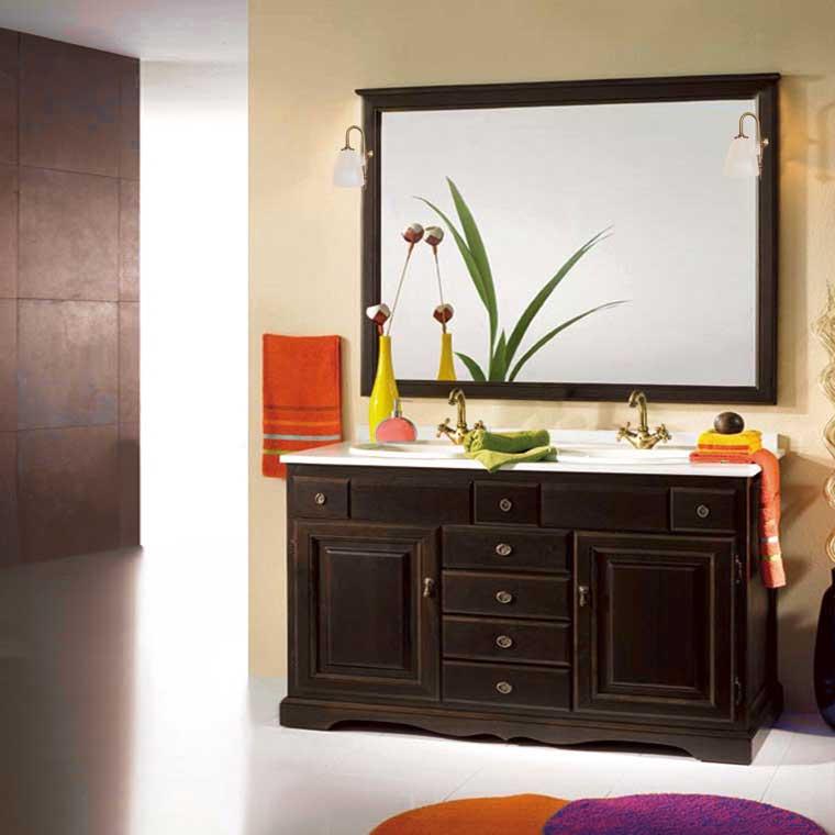 Mueble de ba o cl sic 140 x 55 cm mueble de la serie de for Muebles de bano 140 cm