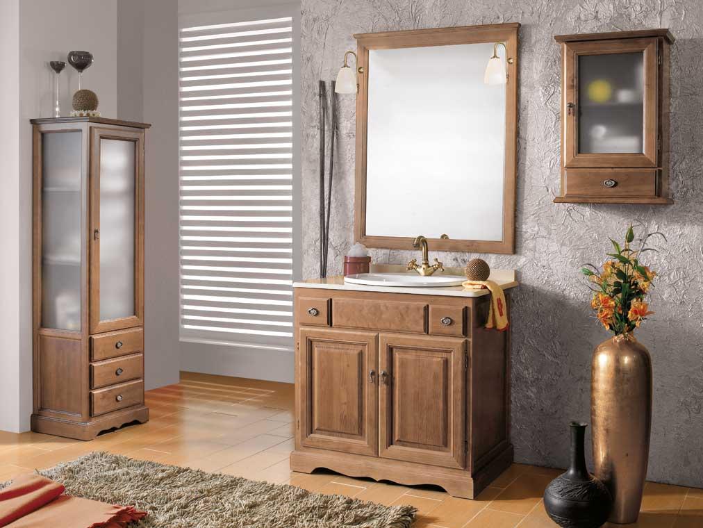 Mueble de ba o cl sic 80 x 55 cm mueble de la serie de for Muebles de bano rusticos baratos