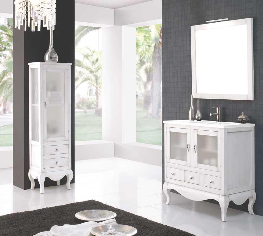 Mueble de ba o coral de 80 cm mueble de la serie de ba o - Muebles de bano rusticos online ...