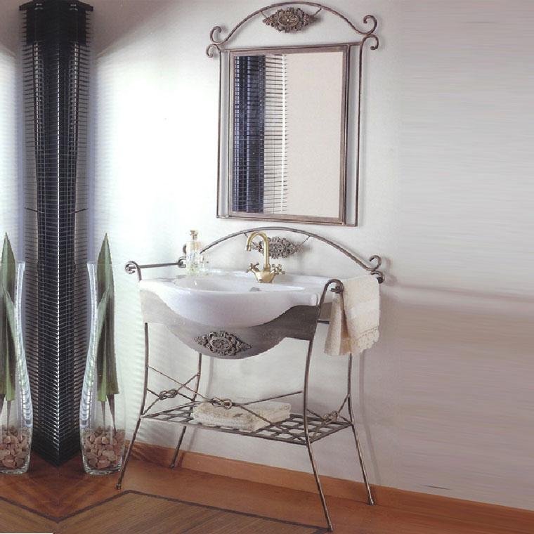 Muebles de forja para baños rústicos