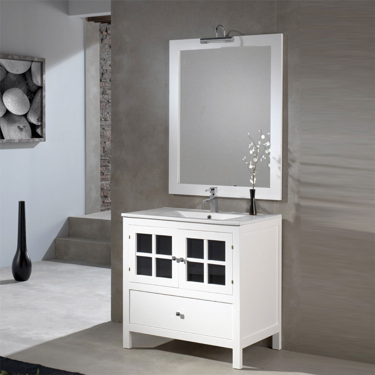 Mueble de ba o gredos 80 x 45 cm muebles ba o gredos for Muebles altos de bano
