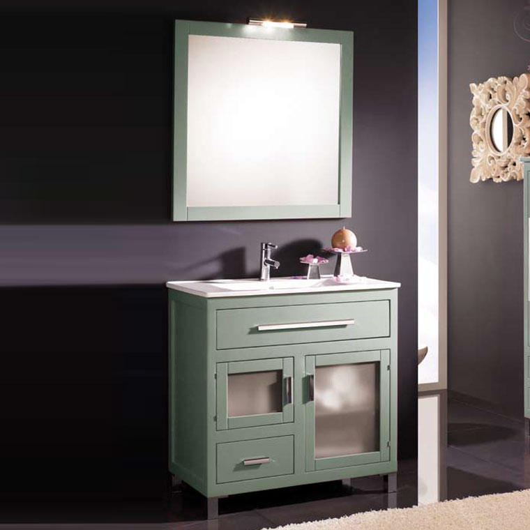 Mueble de ba o laura de 80 x 45 cm muebles de ba o laura for Mueble 45 cm ancho