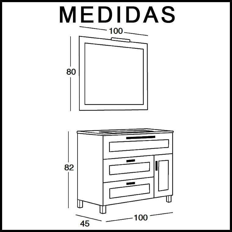 Mueble De Ba O Paula 100 X 45 Cm Mueble De La Serie De