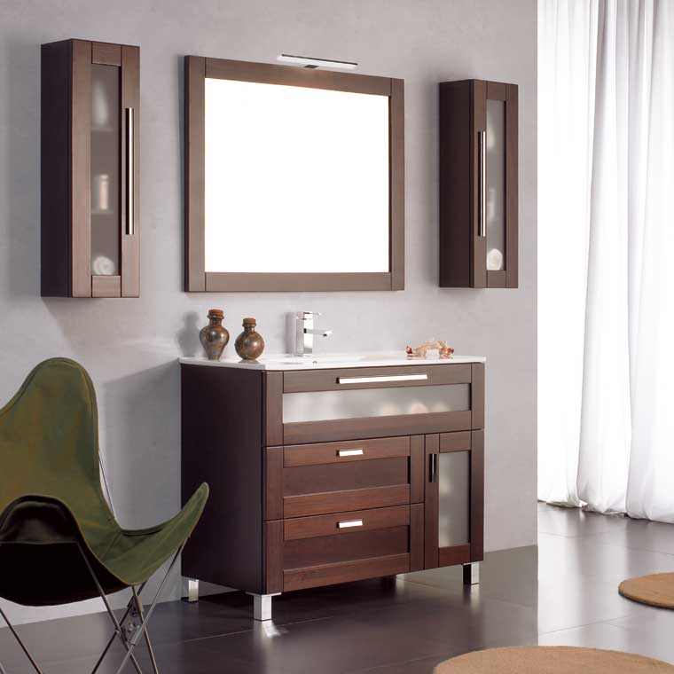 Mueble de ba o paula 100 x 45 cm mueble de la serie de for Muebles de bano 60 x 45