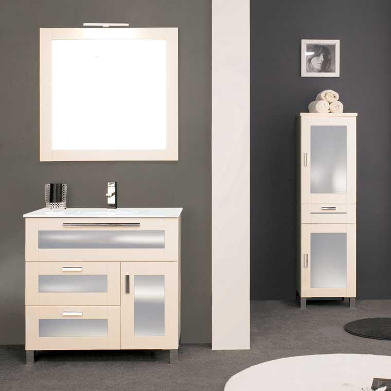 Mueble de ba o paula de 80 x 45 cm mueble de la serie de for Mueble 45 cm ancho