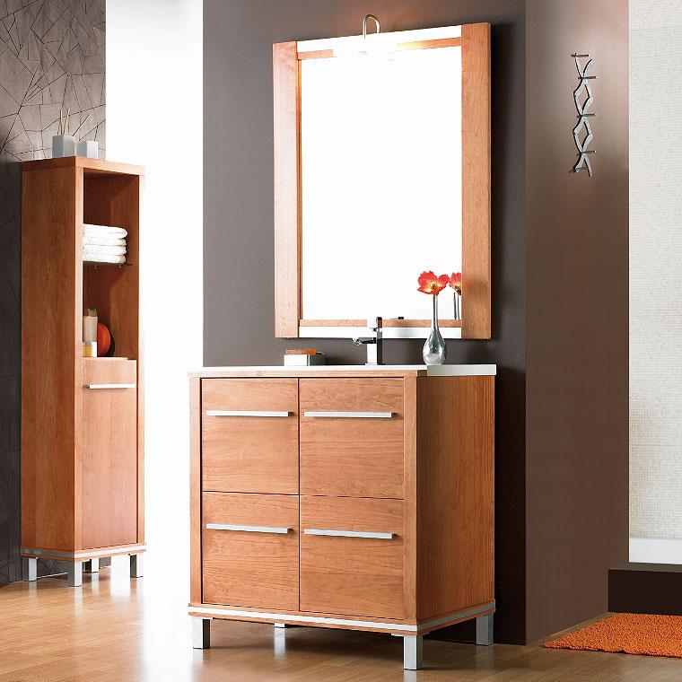 Mueble de ba o poseid n suelo 80 cm n 4 de la serie de for Mueble 45 cm ancho