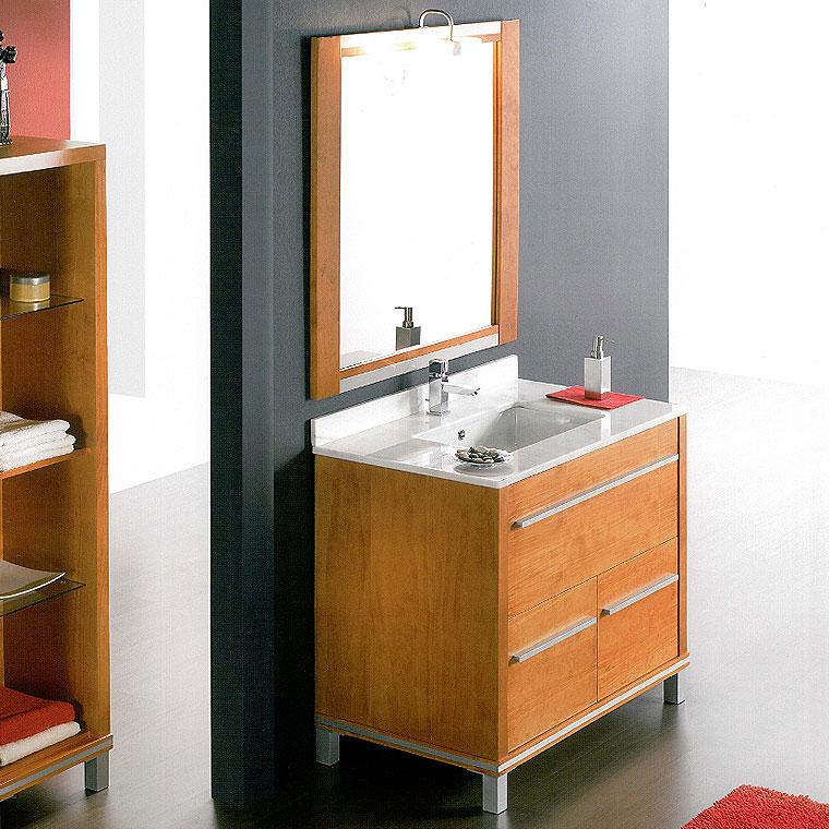 Mueble de ba o poseid n suelo 80 cm n 5 de la serie de for Mueble bano 50 cm ancho