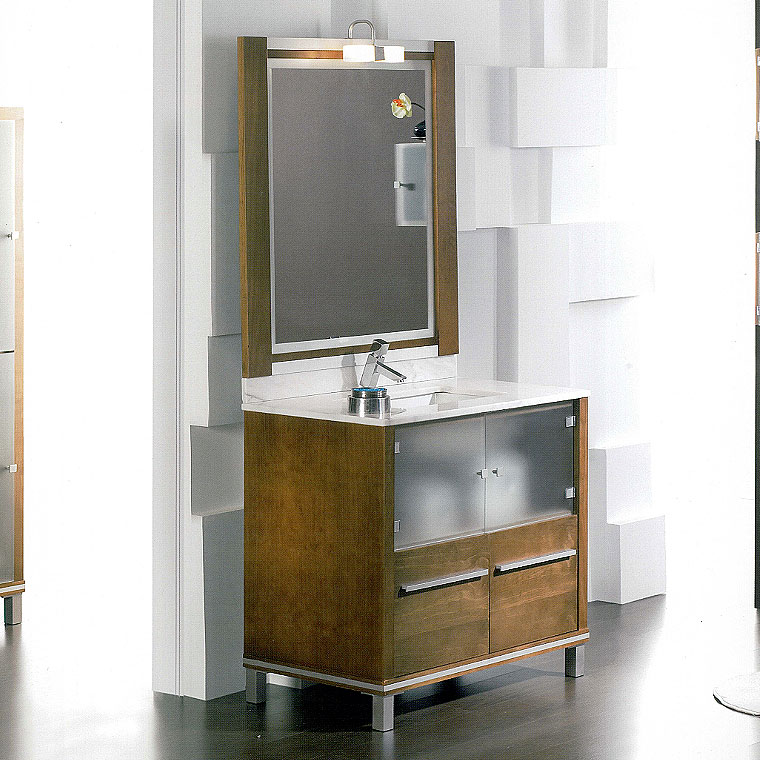 Mueble de ba o poseid n suelo 90 cm n 1 de la serie de for Mueble bano 50 cm ancho