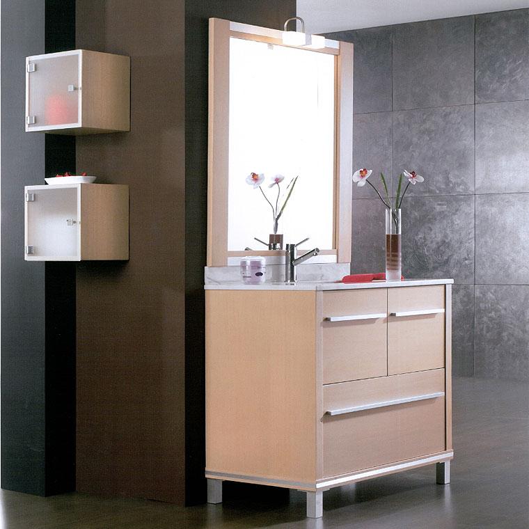 Mueble de ba o poseid n suelo 90 cm n 2 de la serie de for Mueble bano 50 cm ancho