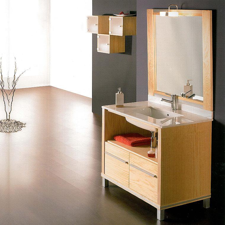 Mueble de ba o poseid n suelo 90 cm n 4 de la serie de for Mueble bano 50 cm ancho