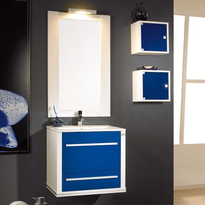 Mueble de ba o forja coni 65 cm mueble de la serie de for Muebles de bano 60 x 45
