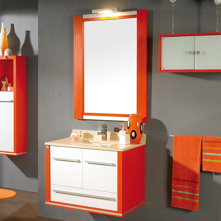 Mueble de ba o poseid n suspendido 80 cm de la serie de for Mueble 80 cm ancho