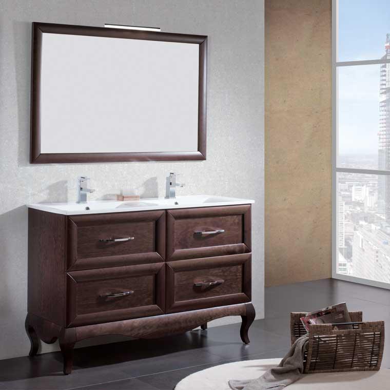 Mueble de ba o ren de 120 cm mueble de la serie de ba o - Muebles de bano rusticos online ...