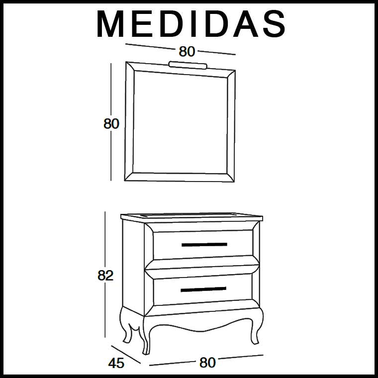 Medidas mueble bano dise os arquitect nicos for Medidas mueble bano