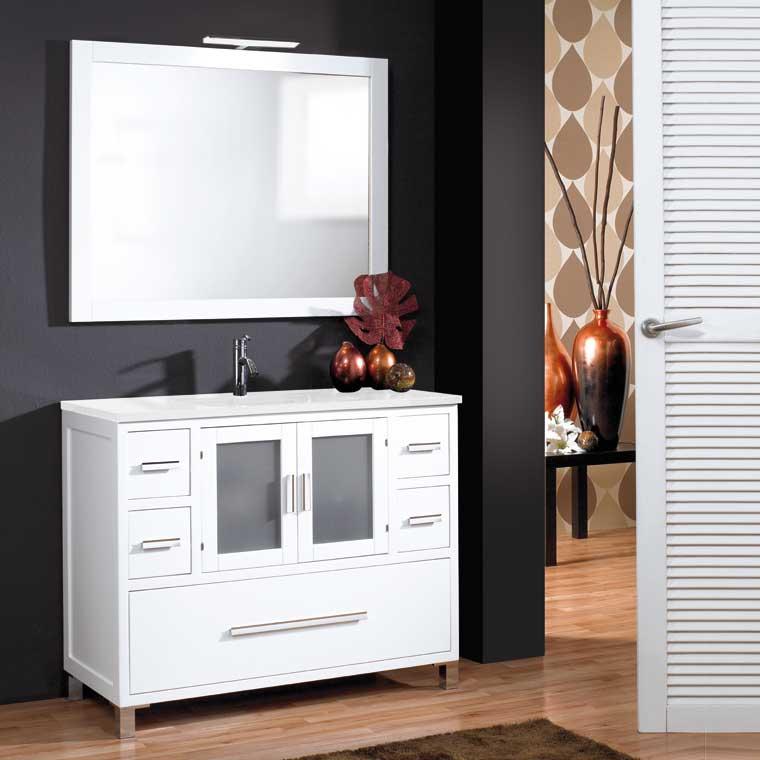 Mueble de ba o sara de 100 x 45 cm mueble de la serie de for Muebles de bano de 50 cm