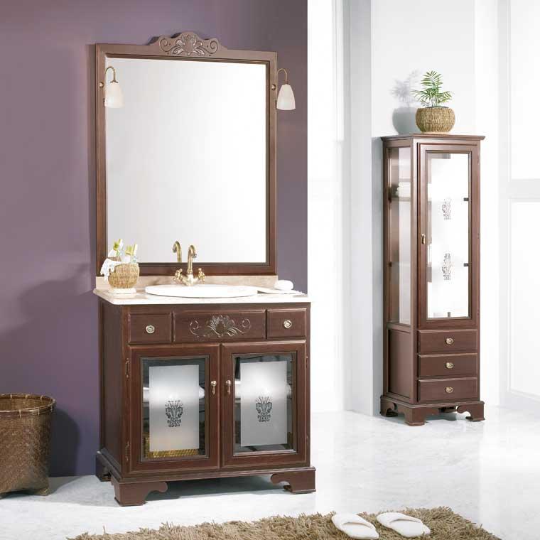 Mueble de ba o talla de 80 x 55 cm mueble de la serie de ba o talla - Muebles rusticos bano ...