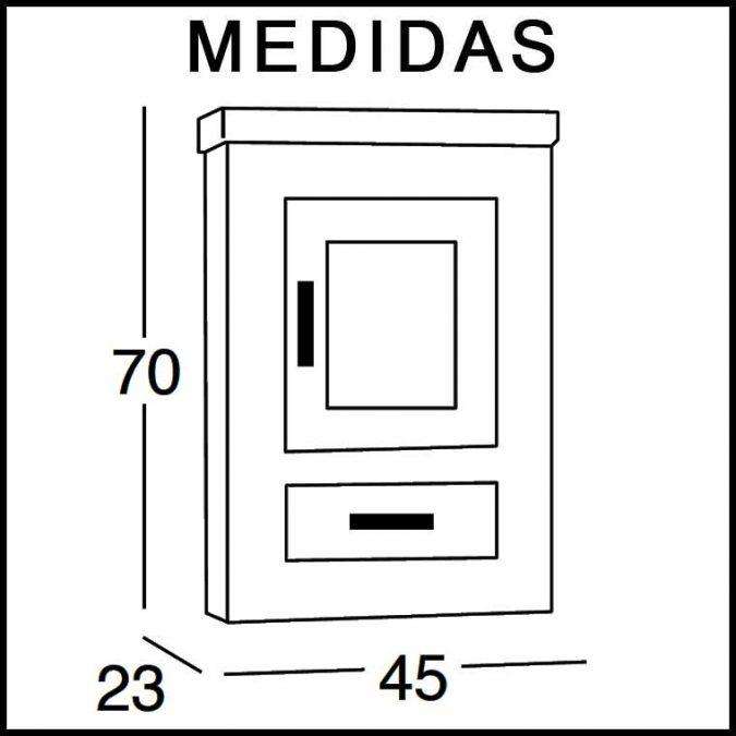 Medidas Mueble Auxiliar Baño de Colgar Nerea