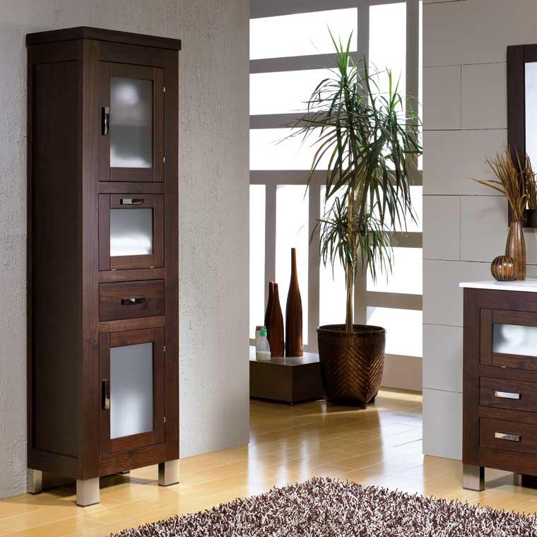 Mueble auxiliar ba o de pie nerea armario de la serie de for Mueble auxiliar bano