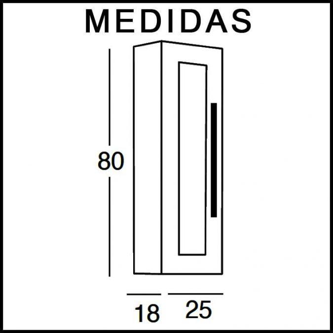 Medidas Mueble Auxiliar Baño de Colgar Paula