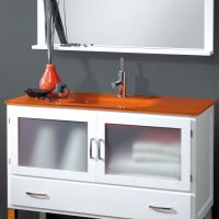 Encimera de Cristal Óptico Naranja
