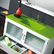 Encimera de Cristal Óptico Verde