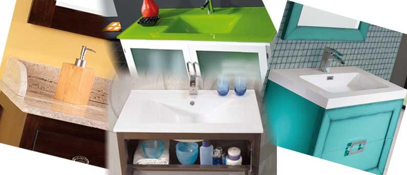 Encimeras muebles de ba o cer mica cristal resina o m rmol for Muebles para encimeras