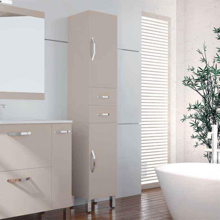 Mueble auxiliar de ba o de pie aroa armario de la serie - Muebles auxiliares bano ...