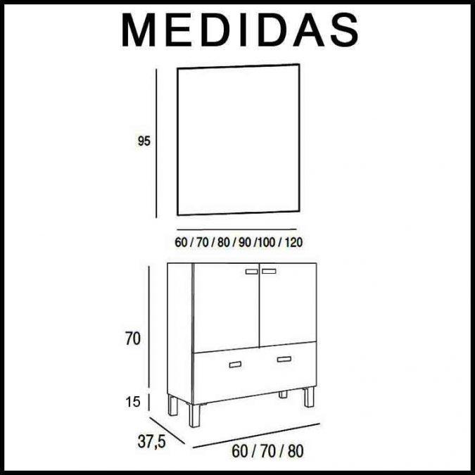 Medidas Mueble de Baño Vega