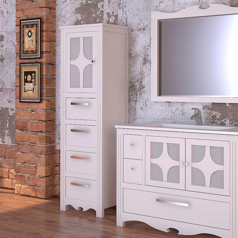 Mueble auxiliar ba o de pie mueble de la serie de ba o for Muebles auxiliares para television