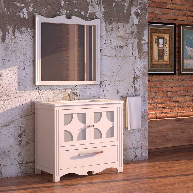 Mueble de ba o imperio 60 x 45 cm mueble de la serie de for Espejos de bano rusticos