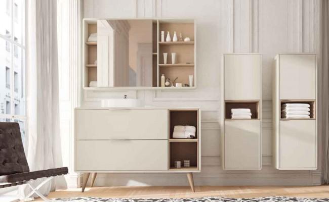 Ambiente Muebles de Baño Vintage 2 Cajones 2 Cajas y Tapa