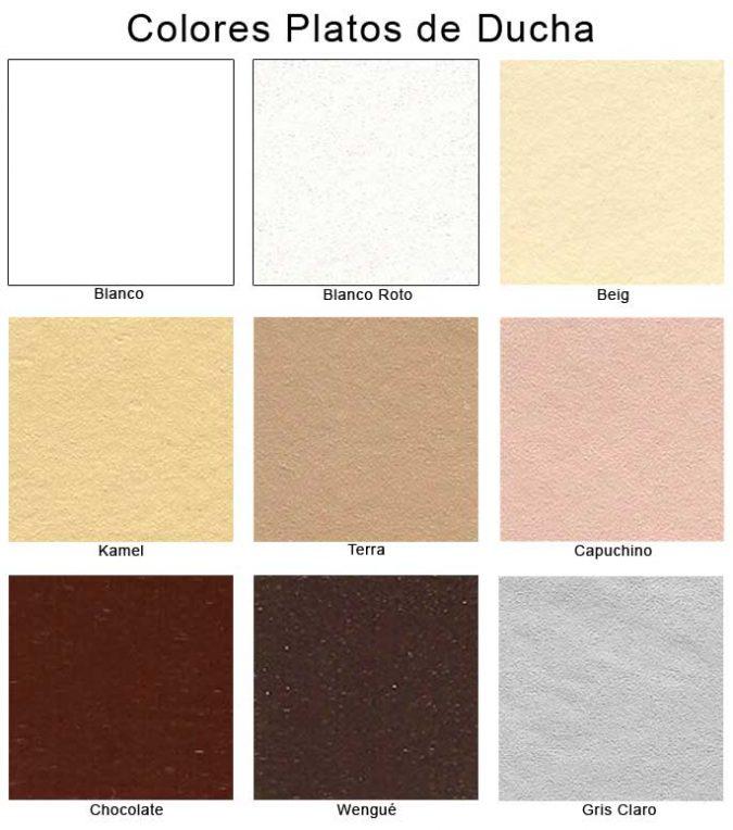 Colores de Platos de Ducha de Resina