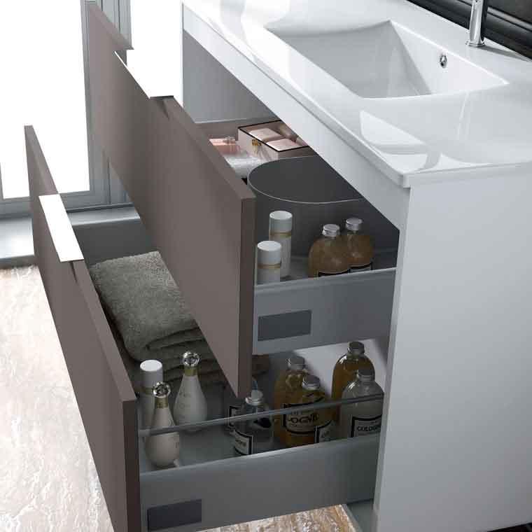 Muebles para bano con cajones de manzana - Banos vintage modernos ...