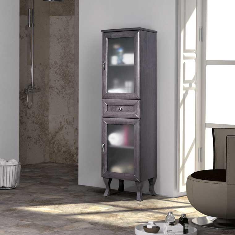 Mueble auxiliar ba o pie alessia mueble de la serie de for Mueble auxiliar bano