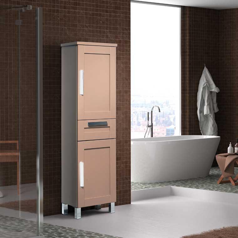 Mueble auxiliar ba o de pie amaya armario de pie for Mueble auxiliar lavabo